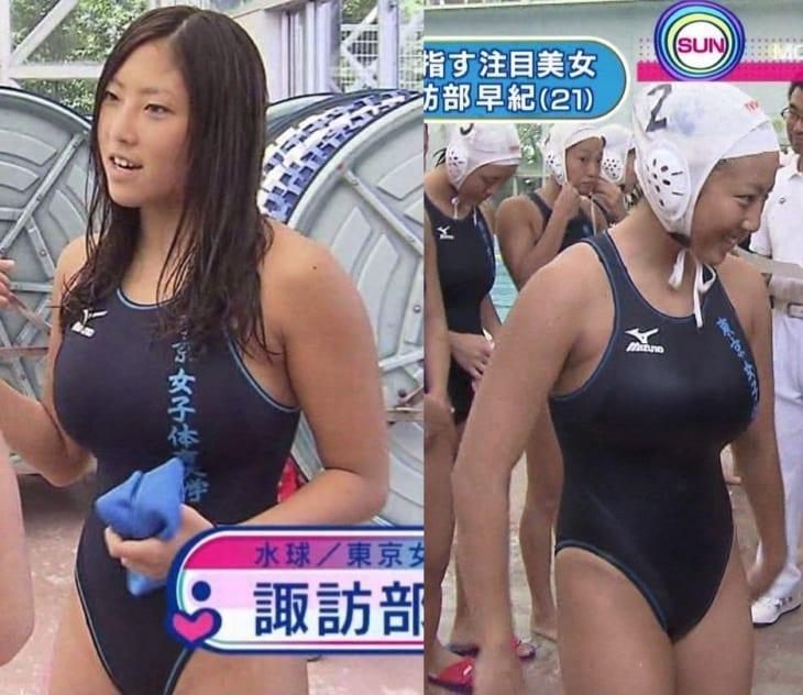 画像水着破りまくりのプレーをした日本水球女子ついに